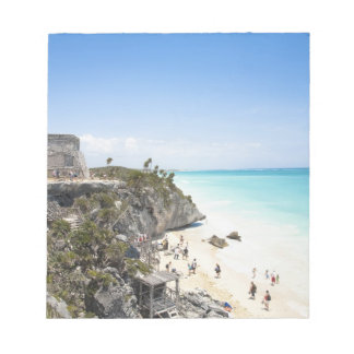 Cancun, Quintana Roo, Mexico - Ruins on a hill Notepad