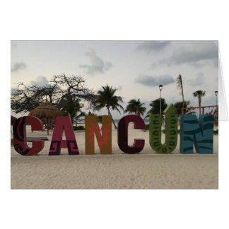 Cancun Sign – Playa Delfines, Mexico Card