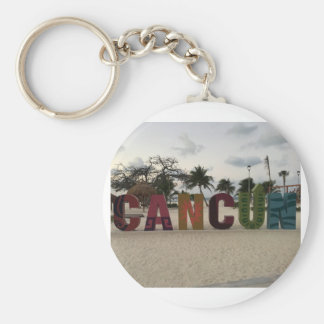 Cancun Sign – Playa Delfines, Mexico Keychain