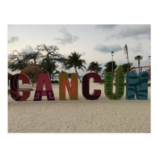 Cancun Sign – Playa Delfines, Mexico Postcard