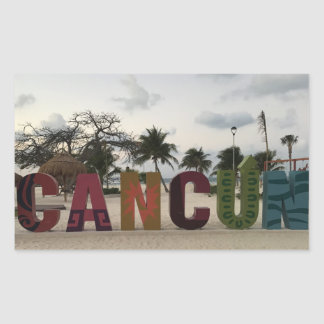 Cancun Sign – Playa Delfines, Mexico Stickers