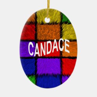 CANDACE CERAMIC OVAL DECORATION