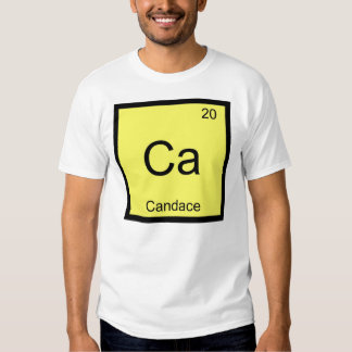 Candace Name Chemistry Element Periodic Table Shirts