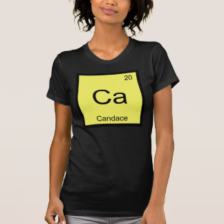 Candace Name Chemistry Element Periodic Table Tshirt