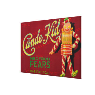 Cande Kid Pear Crate LabelMedford, OR Canvas Print