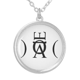Candented Silver Sigil Custom Necklace