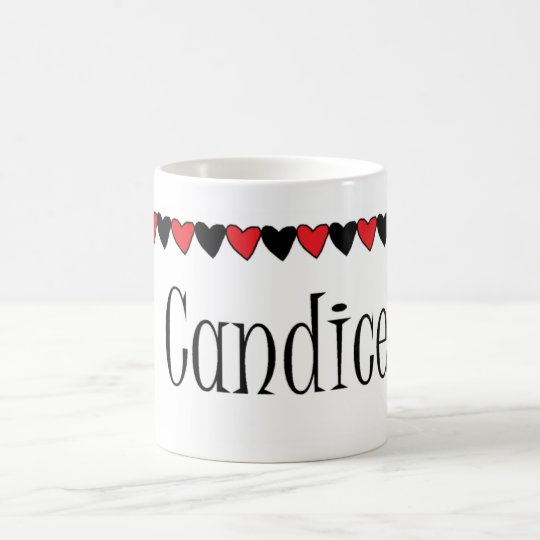 Candice Hearts Name Coffee Mug