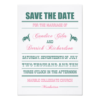 Candice Save the Date 13 Cm X 18 Cm Invitation Card