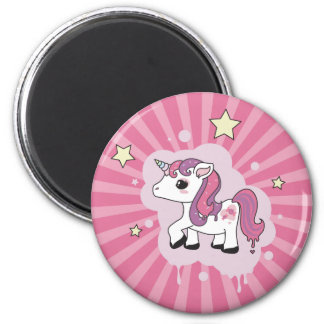Candicorn, the Candy Unicorn 6 Cm Round Magnet