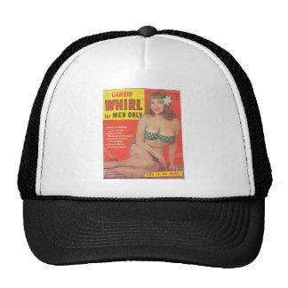 CANDID WHIRL VINTAGE MAGAZINE TRUCKER HAT
