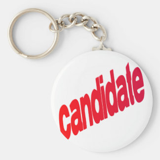 candidate basic round button key ring