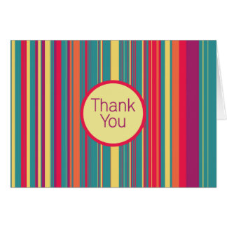 Candied Dreams Stripes Blank Thank You Card