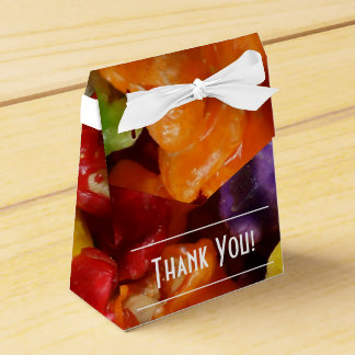 Candied Popcorn Thank You Tent Favor Box
