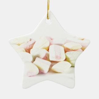 Candies marshmallows ceramic star decoration