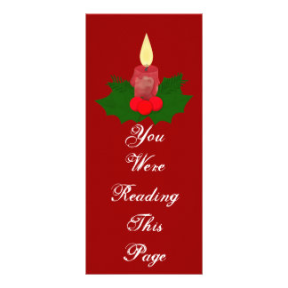 Candle And Holly Bookmark Template Rack Card Template