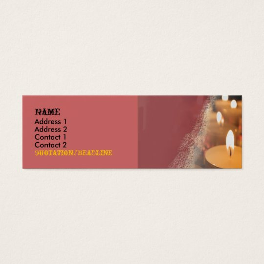 Candle Customisable Skinny Business Card