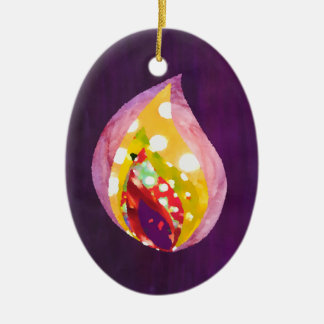Candle Flame Christmas Tree Ornament