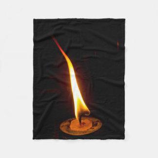 Candle Flame Fleece Blanket