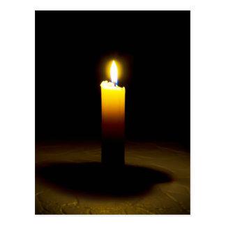 Candle, flame. postcard