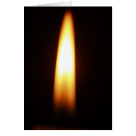 Candle Greeting Card- Blank Inside Card