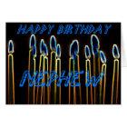 Candle Happy Birthday Nephew Card