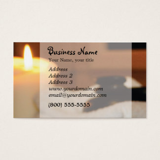 Candle, hot rocks business card
