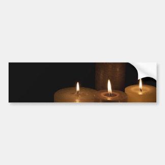 Candle Light Bumper Sticker