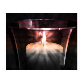 Candle Light Postcard