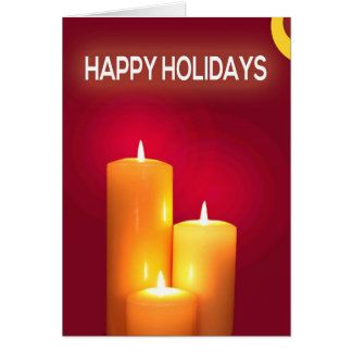 Candle Lit Christmas Greeting Card