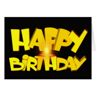 Candle Lit Happy Birthday Greeting Card