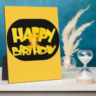 Candle Lit Happy Birthday Plaque