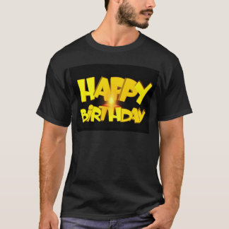 Candle Lit Happy Birthday T-Shirt
