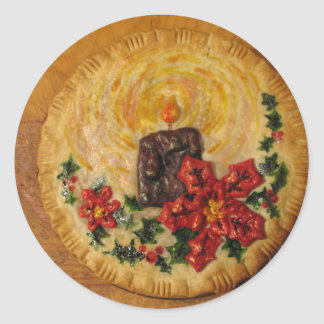 Candle Pie Classic Round Sticker