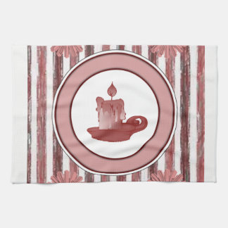 candle stripped kitchen hand towel