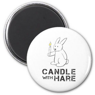 Candle With Hare - Product Magnet