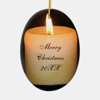 candle xmas christmas ornament