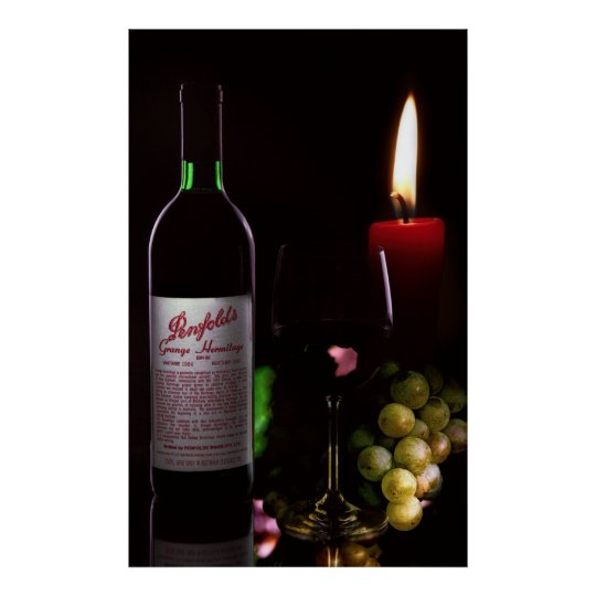 CANDLELIGHT and WINE Poster