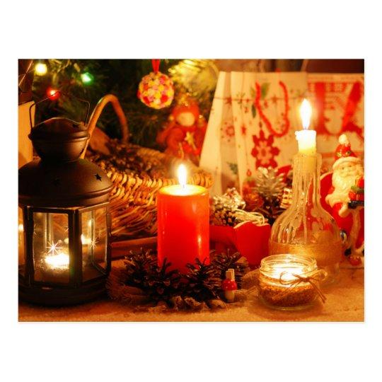 Candlelight at Christmas Postcard