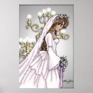 Candlelight Bride - Light Brunette Poster