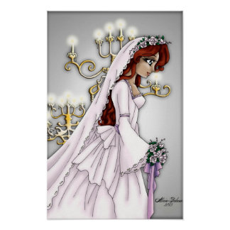 Candlelight Bride - Redhead Print