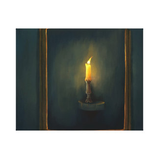 Candlelight painting Stretched Canvas Print