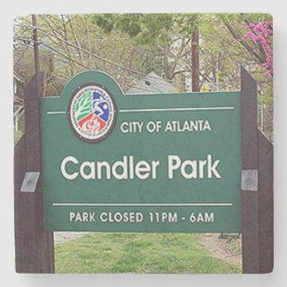 Candler Park Sign, Candler Park, Atlanta Coaster Stone Beverage Coaster