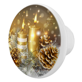 Candles and Cones Ceramic Knob