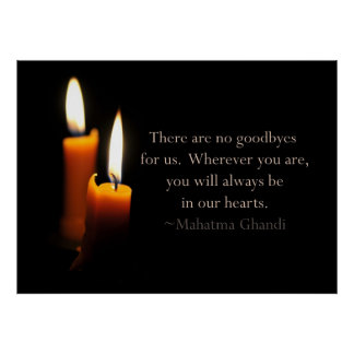 Candles and Ghandi quote Print