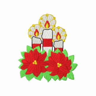 Candles and Poinsettias Polo Shirts