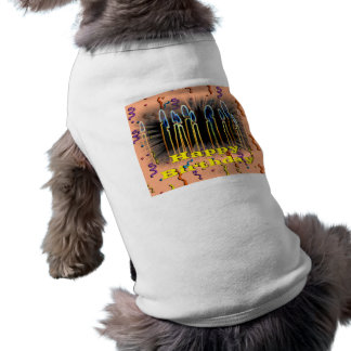 Candles And Streamers Happy Birthday Pet Clothing