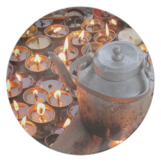 Candles at Boudha Stupa Plate