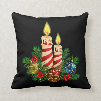 Candles for Christmas Cushion