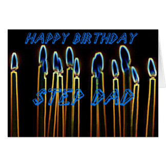 Candles Happy Birthday Step Dad Card
