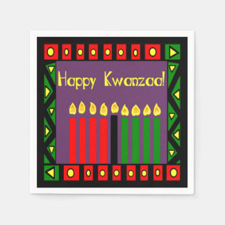 Candles Of Hope Kwanzaa Party Paper Napkins